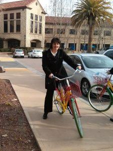 Karine Kugler on Google bike