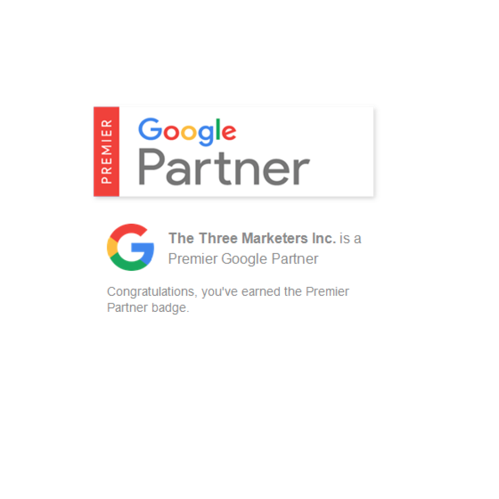 The Three Marketers is now a Premier Google Partner