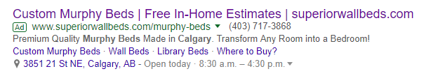 Google Ad with Location Extension